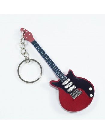 Brian May Queen miniatuur gitaar sleutelhanger