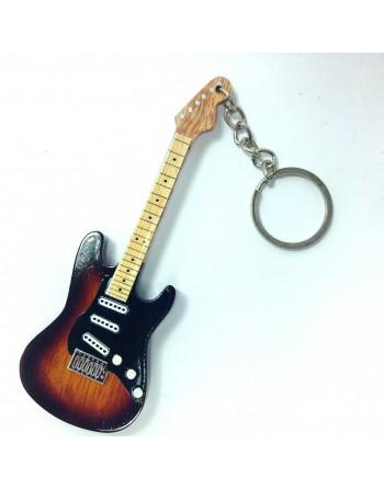 Ritchie Blackmore Deep Purple miniatuur gitaar sleutelhanger
