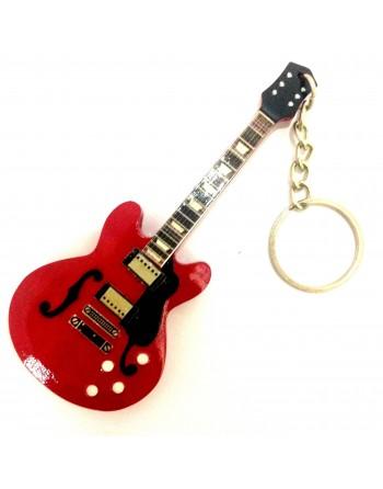 Chuck Berry miniatuur gitaar sleutelhanger