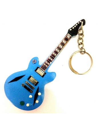 Dave Grohl Foo Fighters miniatuur gitaar sleutelhanger