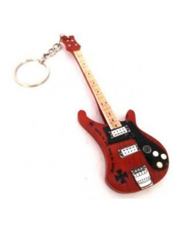 Lemmy Kilmister Motörhead miniatuur basgitaar sleutelhanger