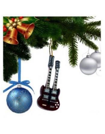 Jimmy Page Led Zeppelin miniatuur gitaar kerstboomversiering