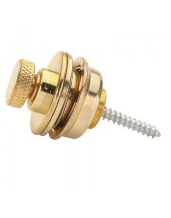 Luxe goudkleurige strap lock set compleet voor gitaar