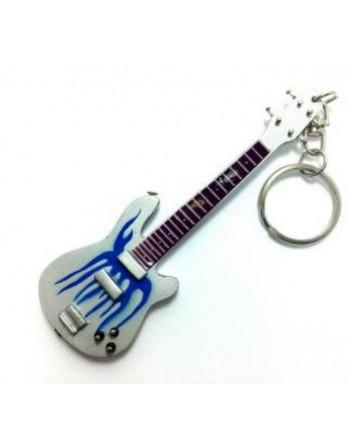 Robert Trujillo Metallica miniatuur gitaar sleutelhanger