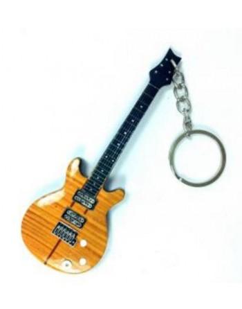 Carlos Santana miniatuur gitaar sleutelhanger