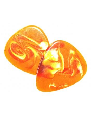 Epoxy plectrum oranje swirl...