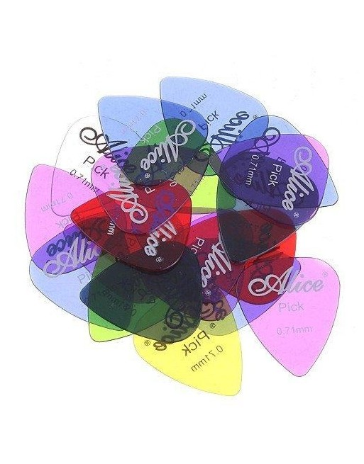 Alice 0,71 mm plectrum polycarbonaat