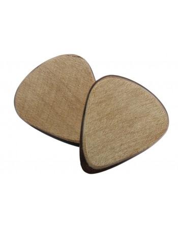 Maple wood plectrum with...