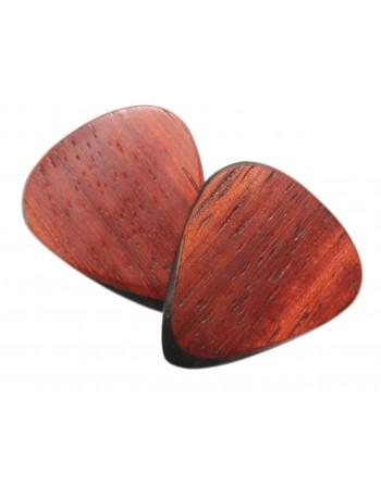 Padauk wooden plectrum with...