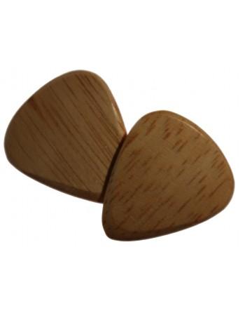 Gummiplektrum aus Holz