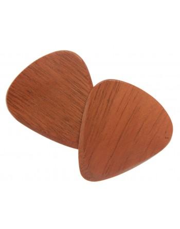 Walnut wooden plectrum