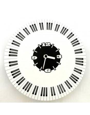 Decorative clock with piano...