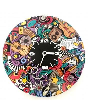 Dekorative Uhr mit Musikthema