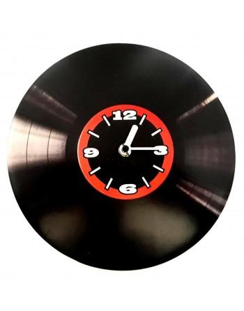 Decorative clock with vinyl...