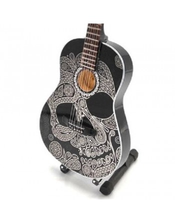 Sugar Skull miniature guitar