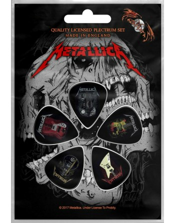 Metallica Plectrum Guitars...