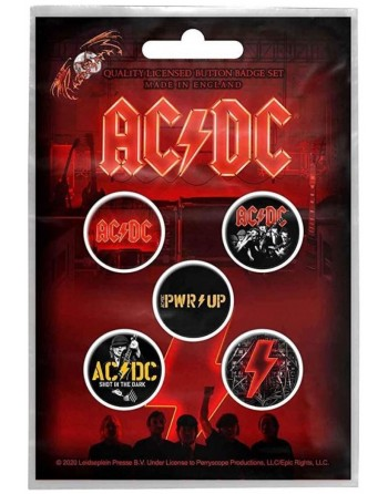 AC/DC button PWR UP 5-pack