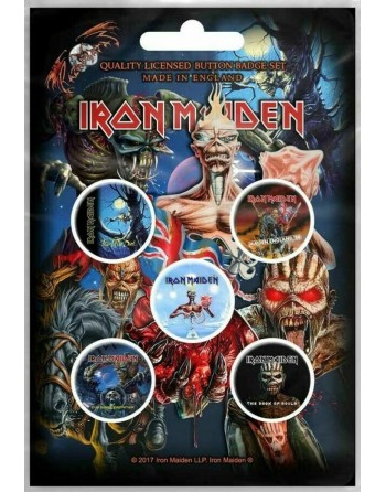 Iron Maiden button Later...