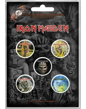 Iron Maiden button Faces of...