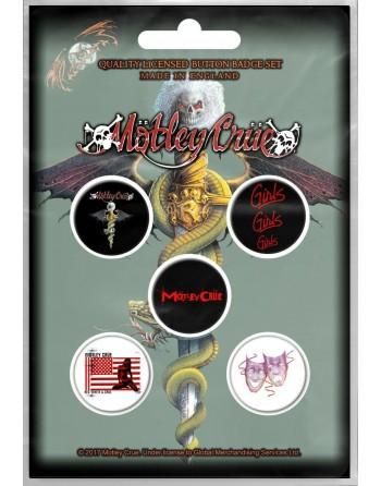 Mötley Crüe button Dr Feel...