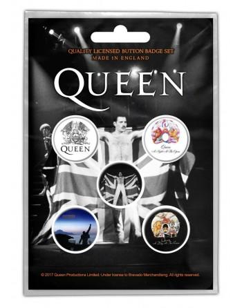 Queen button Freddie 5-pack