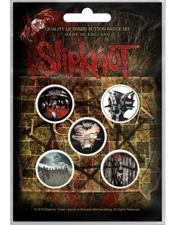 Slipknot button Albums 5-pack