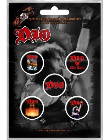 Dio button We Rock 5-pack