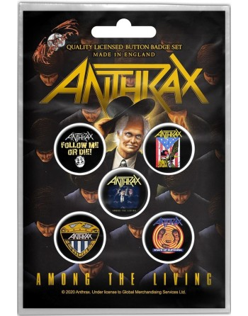 Anthrax Button Among the...