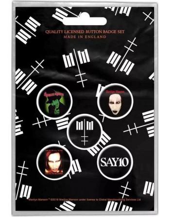 Marilyn Manson Button Cross...