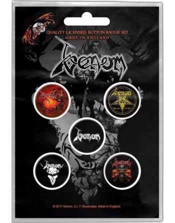 Venom Button Black Metal...