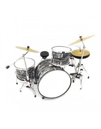 Zilver - zwart drumstel