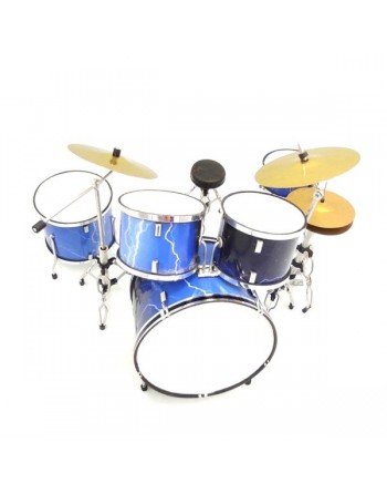 Blauw met bliksem drumstel