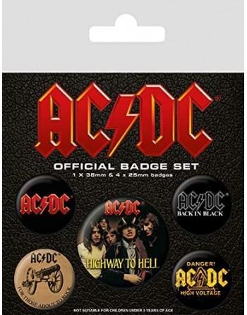 AC/DC Button Albums 5-pack