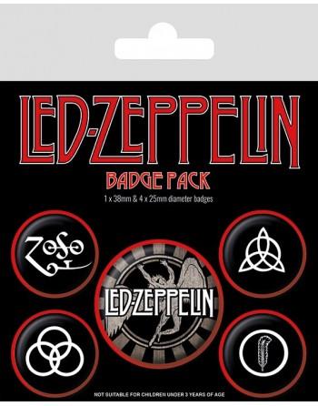 Led Zeppelin Button Logos...