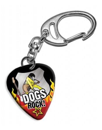 Plectrum sleutelhanger Dogs...