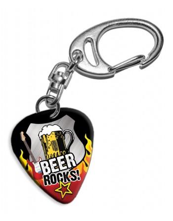 Plectrum sleutelhanger Beer...