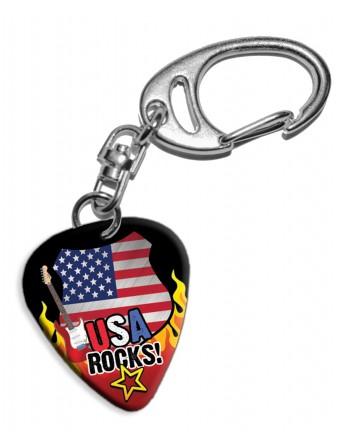 Plectrum sleutelhanger USA...