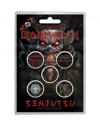Iron Maiden Button Senjutsu...