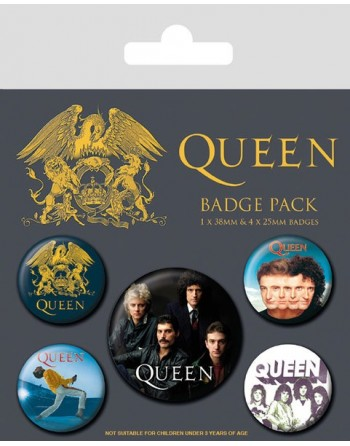 Queen Button Albums 5-pack