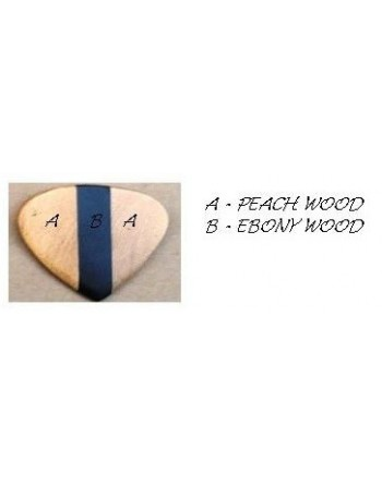 Perzik & Ebben houten plectrum
